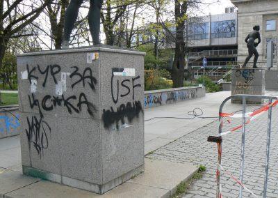 Graffitientfernung von Granit