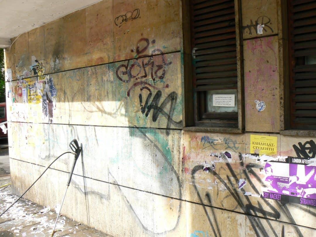 Graffitientfernung und – Imprägnierung