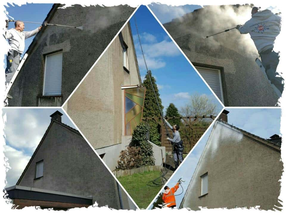 Fassadenreinigung Einfamilienhaus