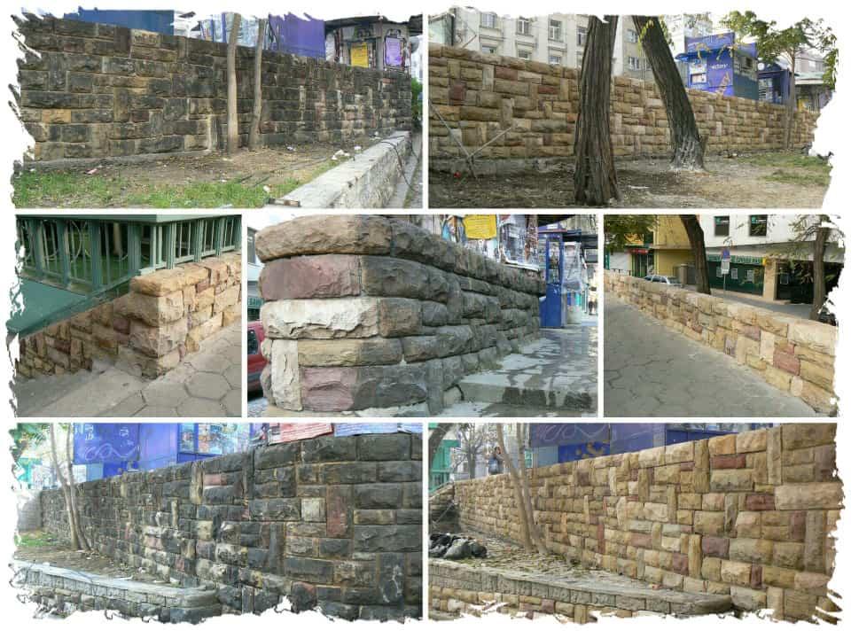 Mauerreinigung bei Naturstein